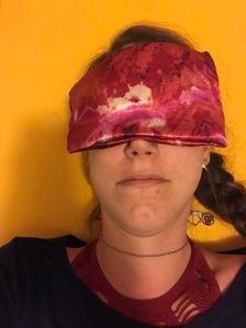 Lavender eye pillow, yoga, relaxation, savasana
