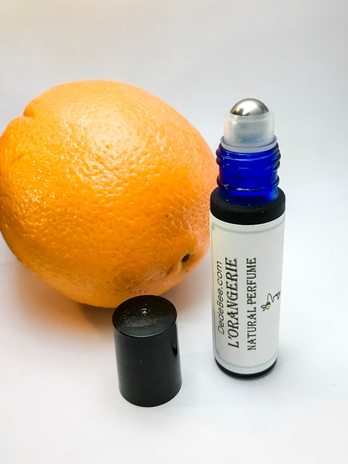 roll on handmade natural perfume aromatherapy with patchouli orange essential oil